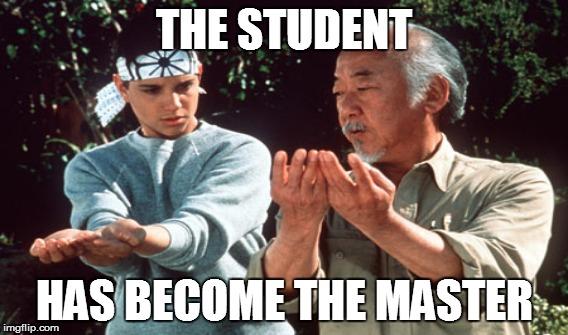 student becomes teacher