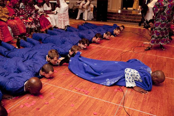 Nigerian trad prostrating